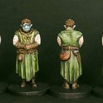 Painted Pumat Sol Miniatures from Critical Role Kickstarter by Steamforged front and back