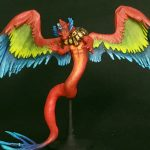 3D Printed Red Couatl Miniature for D&D