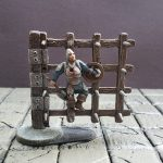 3D Printed spiked door trap for dungeon impaled miniature for dnd