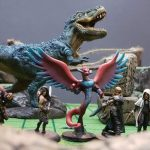 Painted DnD Miniatures with Dinosaur