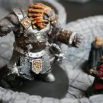 Painted fire giant miniature dnd